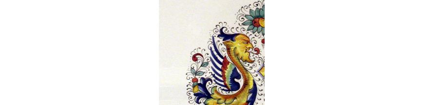 Raffellesco frammenti ceramiche sambuco mario for Piani di casa a basso costo per piede quadrato