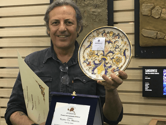 Sambuco at Vinitaly 2018 with Enogà. International award Enogà.