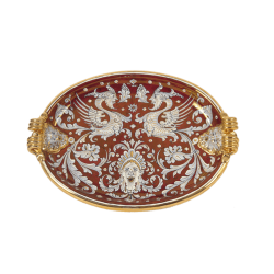 OVAL LIONS TRAY 45X33CM
