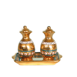 CRUET SET WITH STOPPERS