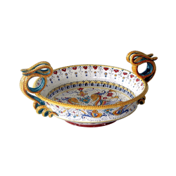 CENTER TABLE W/SNAKE HNDLS 35X10CM
