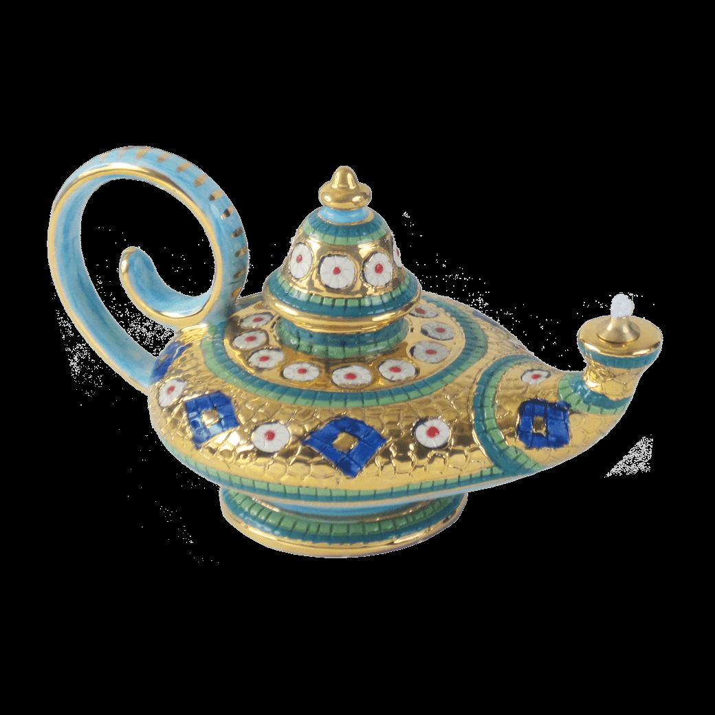 Oil Lamp 4 3 4in 12cm Ceramiche Sambuco Mario