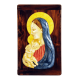 OUR LADY AND CHRIST CHILD 13 1/4in W/WOOD  19X15in