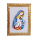 OUR LADY AND CHRIST CHILD 13 1/4in W/FRAME  15 3/4X19 3/4in