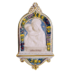 DELLA ROBBIA - OUR LADY AND CHRIST CHILD 7 3/4X14 1/2in
