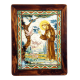 ST. FRANCIS PREACHES TO THE BIRDS 11 3/4X15 3/4in W/FRAME 15X19in