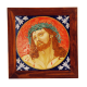 "CHRIST ON THE CROSS FROM GUIDO RENI 9.84""X9.84"" in W/FRAME 11.81""x11.81"""