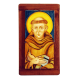 ST. FRANCIS OF ASSISI 6X11 3/4in W/WOOD 7 3/4X14in
