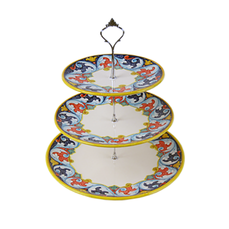 CAKE STAND 3PLATES 32X35CM