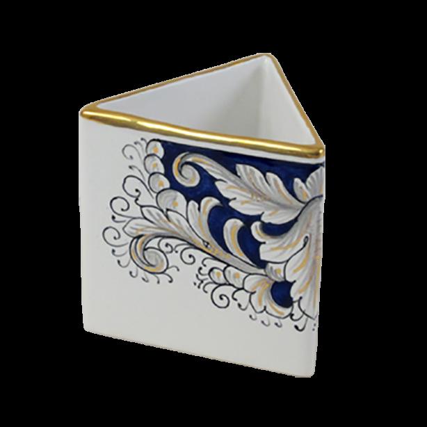 Triang Pencil Holder 11cm Ceramiche Sambuco Mario