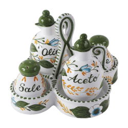 OIL-VINEGAR-SALT-PEPPER W/CANIST 5PCS