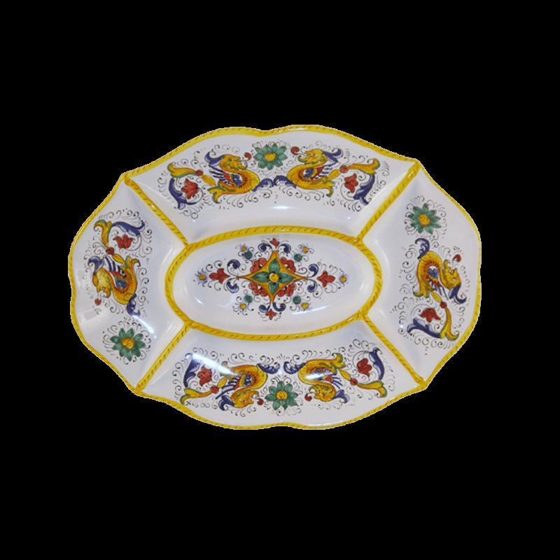 5 Parts Dishes 35x26cm Ceramiche Sambuco Mario