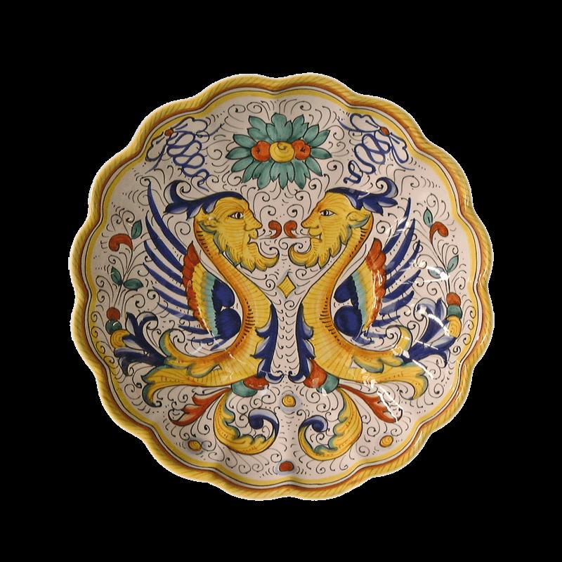 Ruff Wall Decor Plate 30cm Ceramiche Sambuco Mario