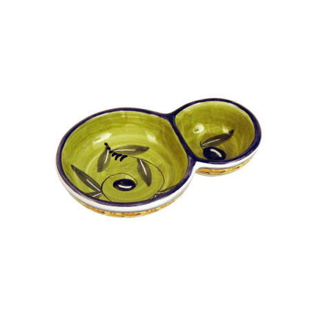 DOUBLE BOWL 17,5CM OLIVE HLD