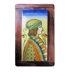 RECT TILE W/WOOD FRAME 15X30