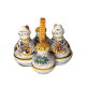 OIL,WINEGAR,SALT AND PEPPER SET