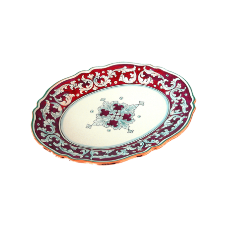 OVAL PLATE 42X33CM