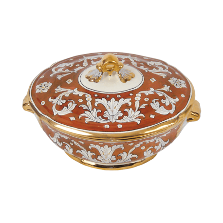 OVAL TUREEN 27X32X2CM W/FOOT