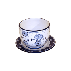 CORN FLAKES CUP AND SAUCER